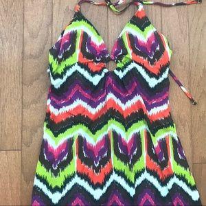 TRINA TURK Maxi Dress Multi color size medium